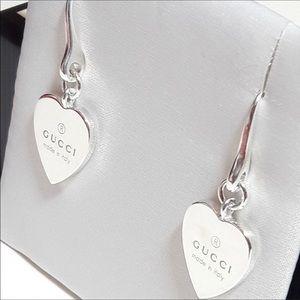 60afee6ae Gucci Heart ❤ bangle earrings sterling silver NIB